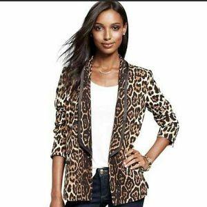 Leopard Tuxedo blazer jacket NWOT